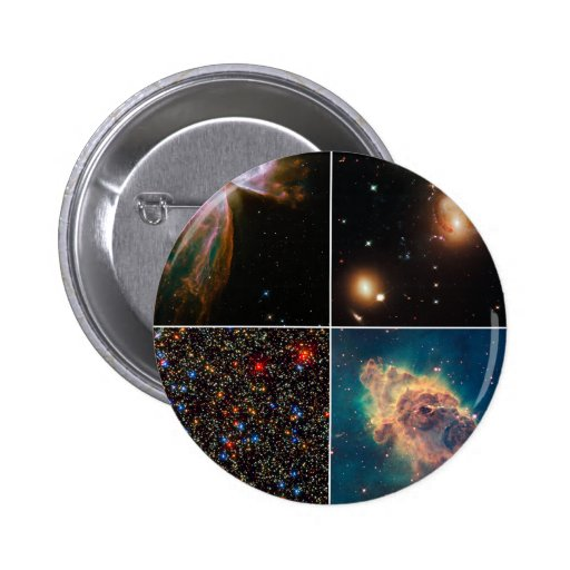 Hubble Servicing Mission 4 Early Release Pinback Button