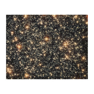 Hubble Space Telescope (ACS) Image of 47 Tucanae Wood Prints