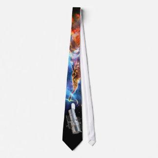 Hubble Space Telescope and Carina Nebula Tie