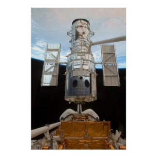 Hubble Space Telescope & Atlantis Poster
