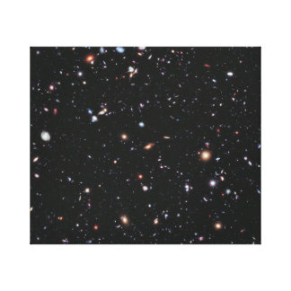 Hubble Space Telescope Field of Galaxies Canvas Print