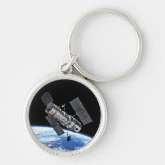Hubble Space Telescope In Earth Orbit NASA Photo Keychain