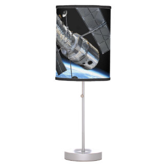 Hubble Space Telescope In Earth Orbit NASA Photo Table Lamp