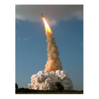 Hubble Space Telescope lift off launch Postcard