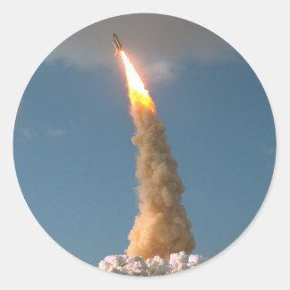 Hubble Space Telescope lift off  NASA Classic Round Sticker