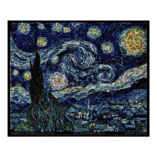 """Hubble Starry Night (29.3""""x24"""") Posters"""