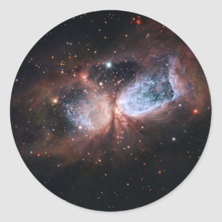 Hubble Subaru Composite Image of Star-Forming Round Stickers