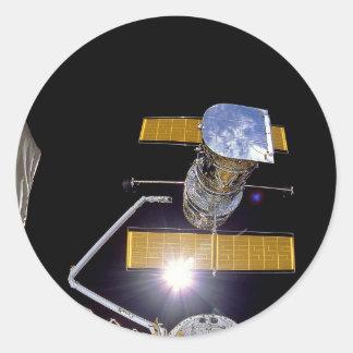 Hubble telescope classic round sticker