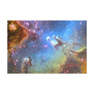 "HUBBLE TELESCOPE ""Eagle Nebula"" ON CANVAS"