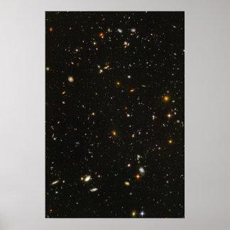 Hubble Ultra Deep Field Photo Poster