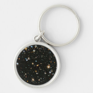 Hubble Ultra Deep Field Silver-Colored Round Keychain