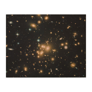 Hubble Wide-Field Image of Galaxy Cluster Wood Print