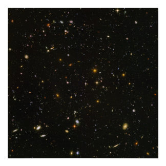 Hubble's Ultra Deep Field Image Poster