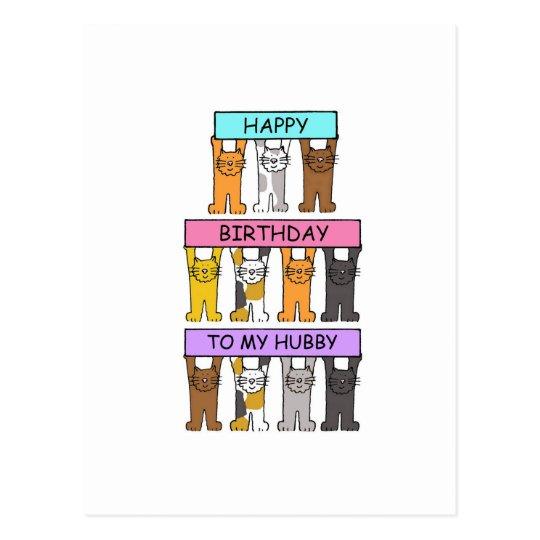 Hubby Happy Birthday Postcard