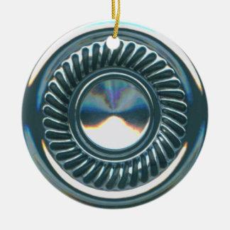 hubcap 2 ceramic ornament
