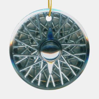 hubcap 3 ceramic ornament