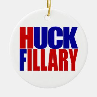"""HUCK FILLARY"" CERAMIC ORNAMENT"