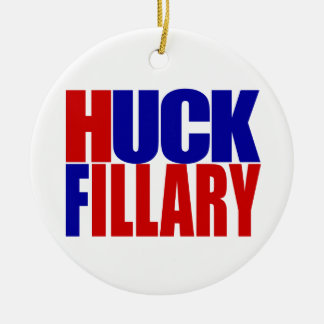 """HUCK FILLARY"" ROUND CERAMIC ORNAMENT"