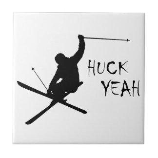 Huck Yeah (Skiing) Tile
