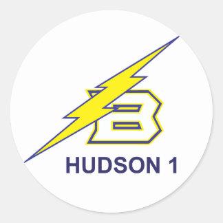 HUDSON 1 CLASSIC ROUND STICKER