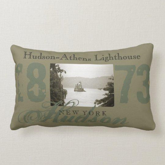 Hudson-Athens Lighthouse Throw Pillow