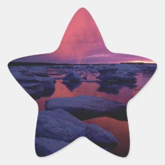Hudson Bay Sunset Canada Star Sticker