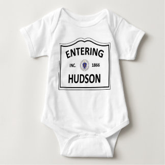 HUDSON MASSACHUSETTS Hometown Mass MA Townie Baby Bodysuit