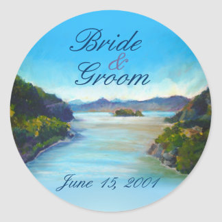 Hudson River at West Point Wedding Stickers
