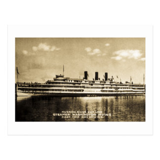Hudson River Day Line Steamer Washington Irving Postcard