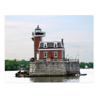 Hudson River Lighthouse at Athens, New York Postcard