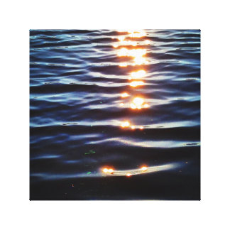 Hudson sunset reflections canvas print