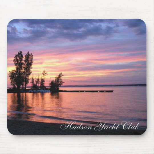 Hudson Yacht Club Sunset Mouse Pad