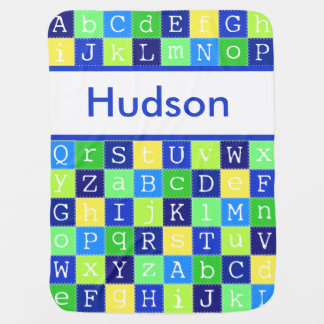 Hudson's Personalized Blanket Receiving Blanket