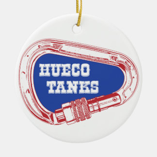 Hueco Tanks Carabiner Ceramic Ornament
