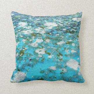 """""""huellas de agua"""", detalle. 41x41, cojin throw pillow"""