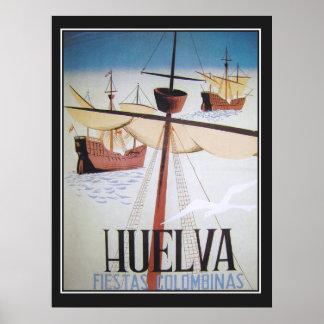 Huelva Fiestas Colombinas Vintage Poster