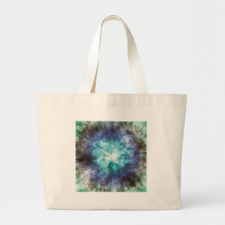 Hues of Blue Tie Dye Large Tote Bag
