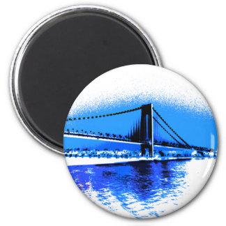 Hues of Blues Bridge magnet