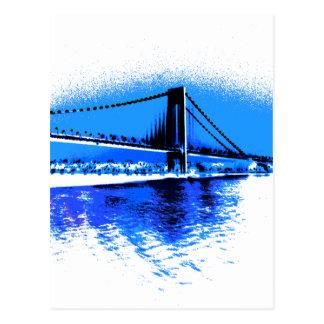 Hues of Blues Bridge postcard