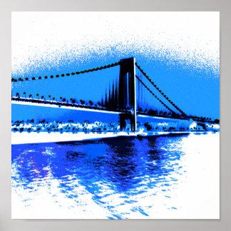Hues of Blues Bridge print