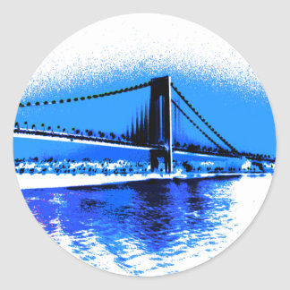 Hues of Blues Bridge sticker
