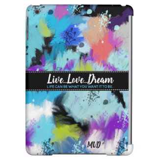Hues Of Bright Abstract Watercolor Cover For iPad Air