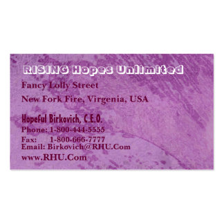 Hues of Purple Nature Wonders Graphics Business Card Templates