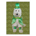Huey McGoldendoodle St. Patrick's Day card