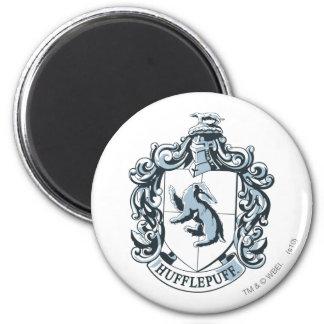Hufflepuff Crest Blue 2 Inch Round Magnet