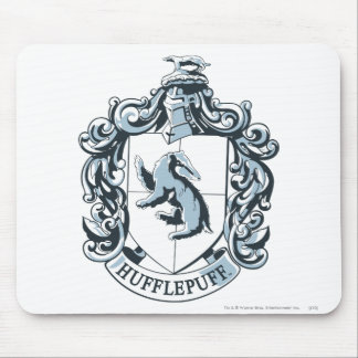 Hufflepuff Crest Blue Mouse Pad