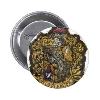 Hufflepuff Crest - Destroyed 2 Inch Round Button