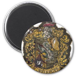 Hufflepuff Crest - Destroyed 2 Inch Round Magnet