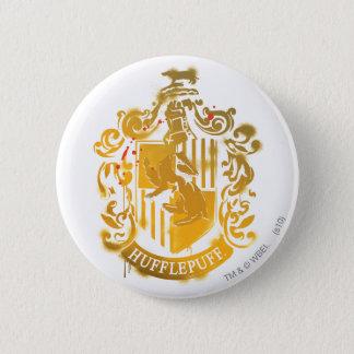 Hufflepuff Crest - Splattered 2 Inch Round Button