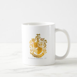 Hufflepuff Crest - Splattered Classic White Coffee Mug